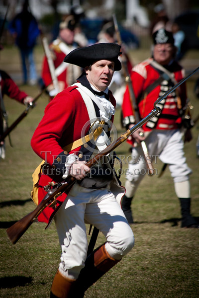 Lexington MA - Battle Green Reenactment Practice 2011