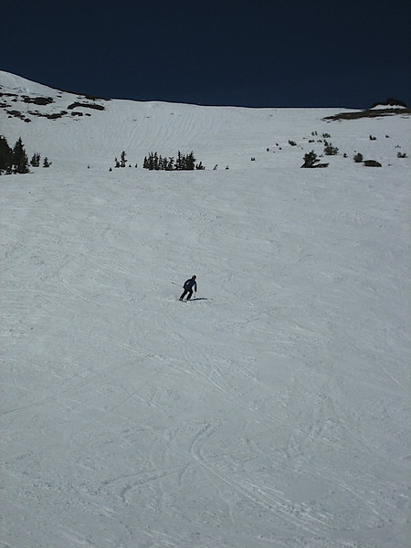 More boring pictures of me skiing -- I have the whole mountain to myself!