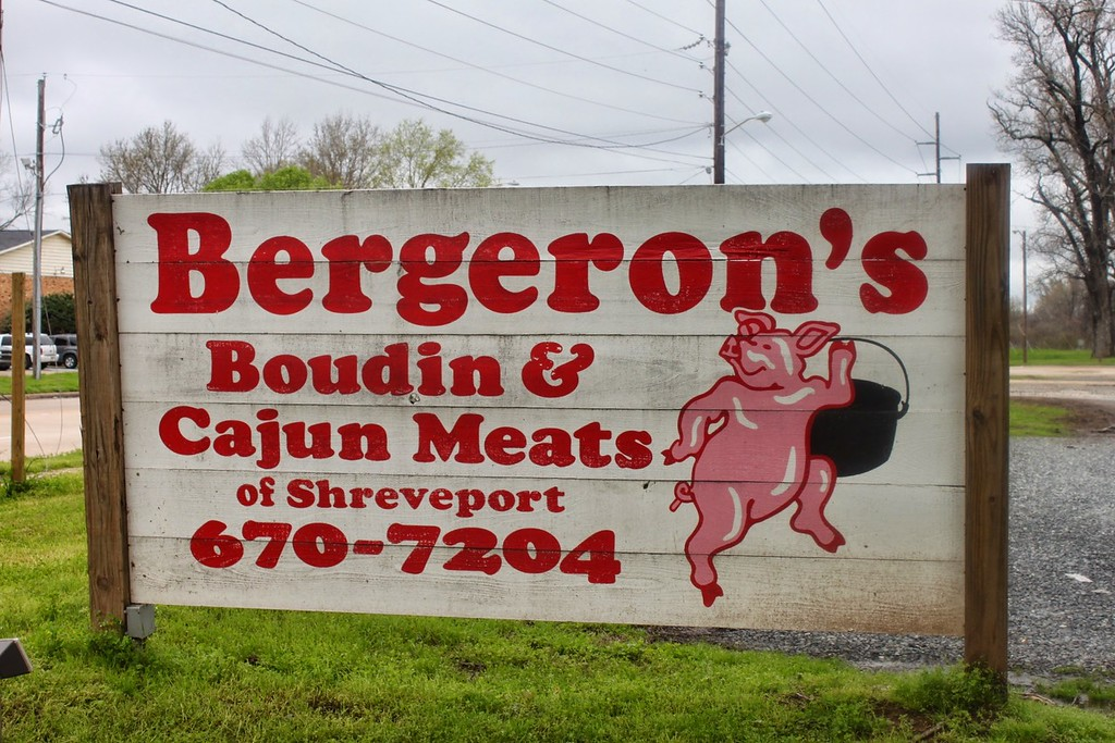 Bergeron's meat market sign in Shreveport