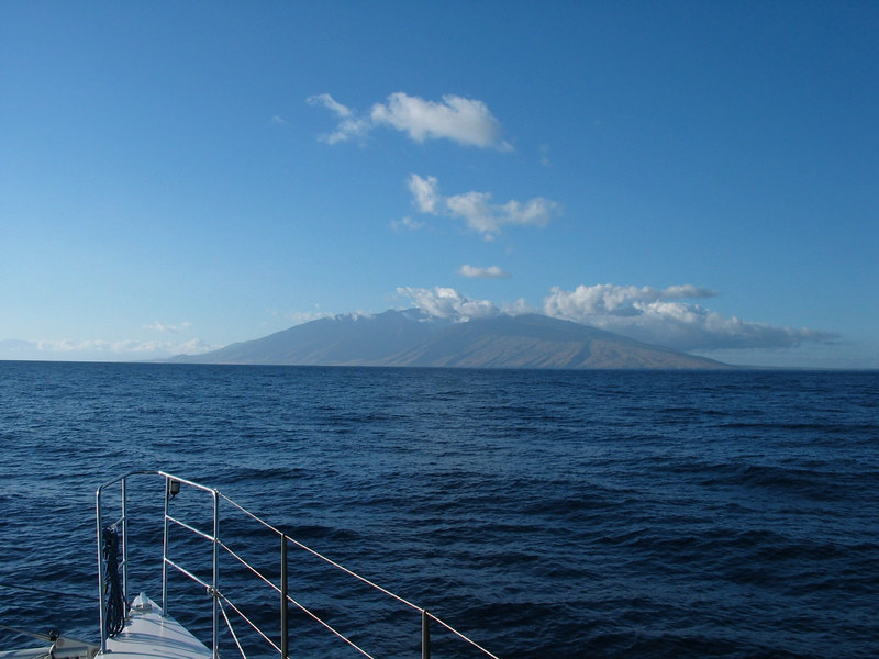 View of Maui at the end of our crossing of the Alenuihaha Channel, Hawaii