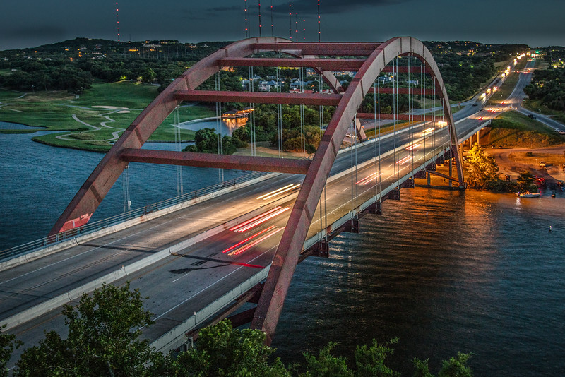 Pennybacker Bridge, also known as the 360 bridge.