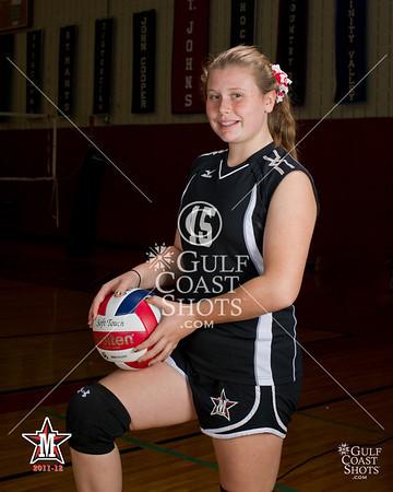 2011 Volleyball Girls SJS Portraits