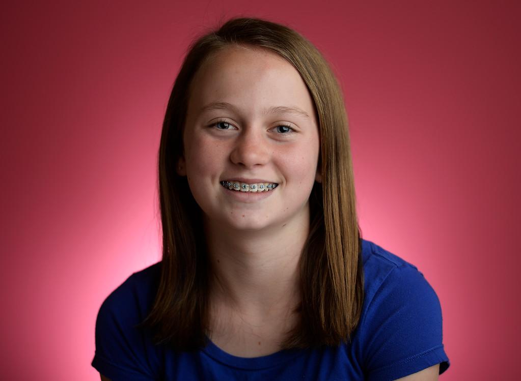 . 1st place children\'s winner: Portrait of first place children\'s Peeps winner  Erin Smith, 11,  on Tuesday, April 8, 2014.  (Denver Post Photo by Cyrus McCrimmon)