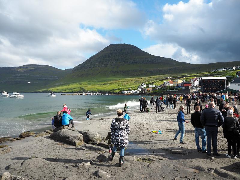 G! Festival on the beach in Gøta