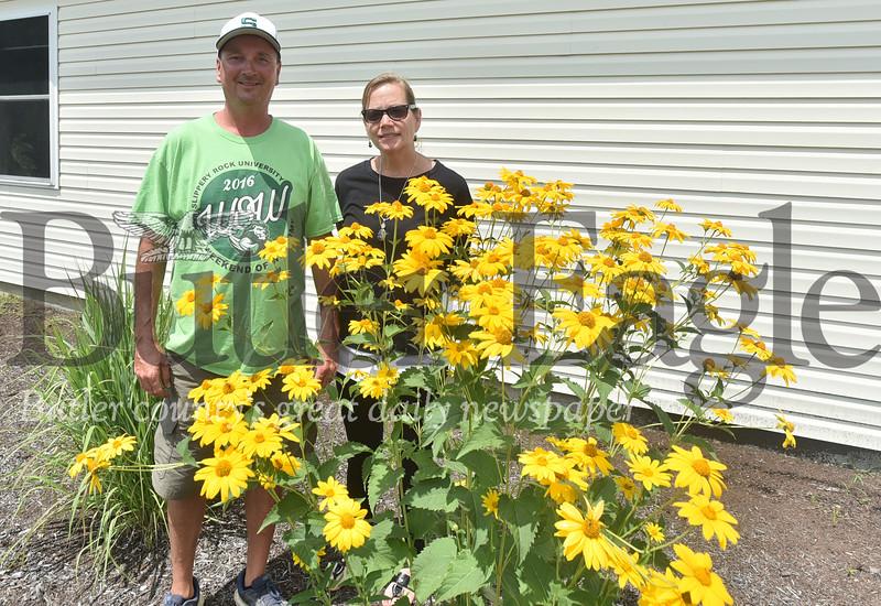 23893 Butterfly garden by Leadership Development Center on the Slippery Rock University campus