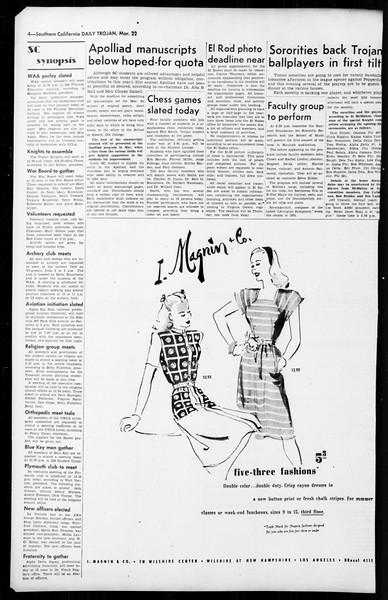 Daily Trojan, Vol. 36, No. 84, March 22, 1945