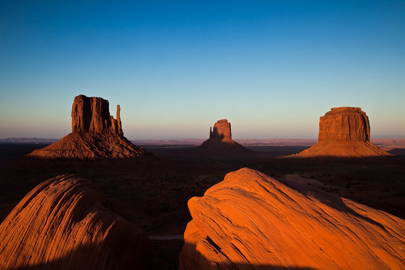 Mittens - Late Afternoon Glow Monument Valley, UT