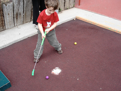 Castle Park mini golf, Will's first time