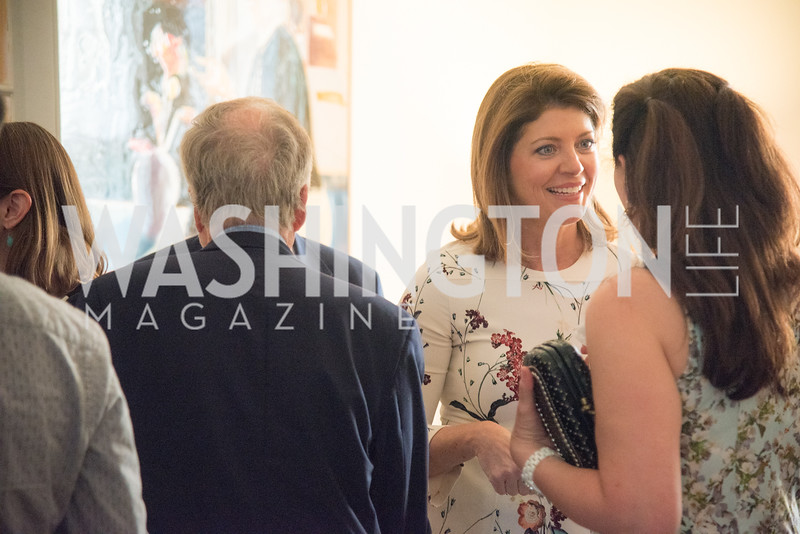 "Norah O'Donnell, Book Party with Ambassador Winston Lord, ""Kissinger on Kissinger"", and Jim Sciutto, ""The Shadow War"", at the home of Juleanna Glover and Christopher Reiter.  Summer 2019, Photo by Ben Droz."
