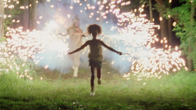 ". Actress Quvenzhane Wallis as ""Hushpuppy\"" on the set of BEASTS OF THE SOUTHERN WILD. Photo Credit: Ben Richardson  Courtesy Fox Searchlight"