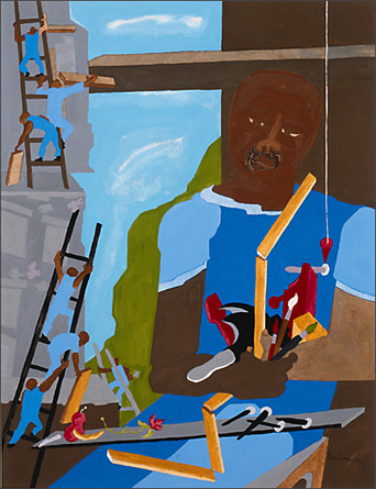 "Jacob Lawrence, ""Artist With Tools,"" 1994"