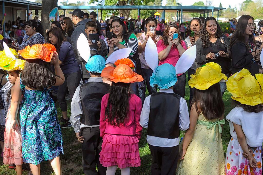 . during Bertrand Ave. Elementary 40th Kindergarten Spring Bonnet Parade Friday, March 22, 2013 in Reseda. (Hans Gutknecht/Staff Photographer)