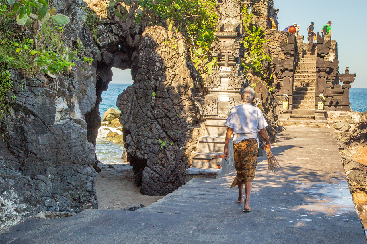 Batu Bolong Temple on Lombok Indonesia