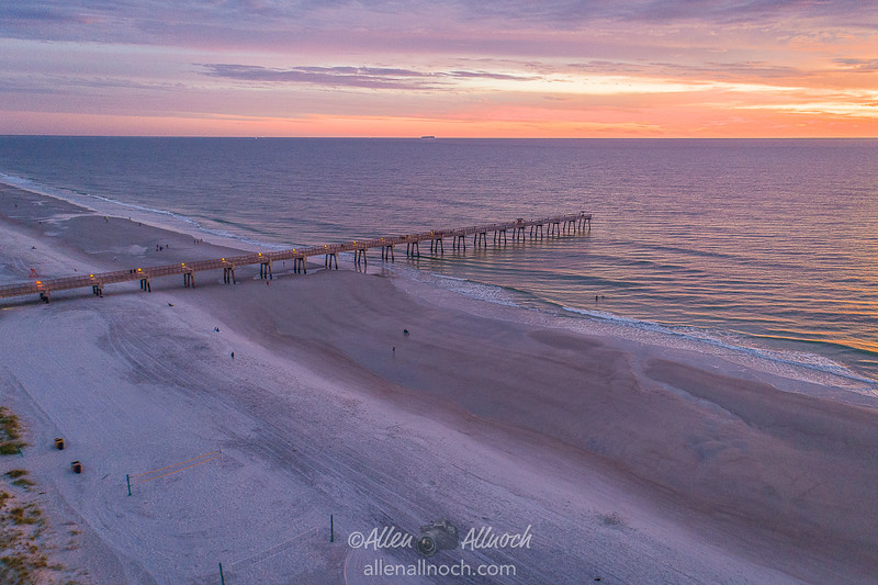 Aerial View over Jacksonville Beach