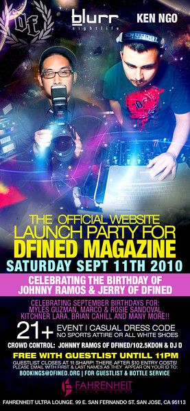 9/11 [OFFICIAL WEBSITE LAUNCH PARTY@FAHRENHEIT]