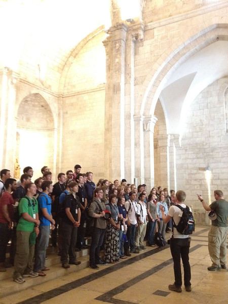 St Anne's: Joshua students sang hymns inside this old church.