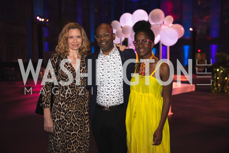 "Christine Demos, Jefferson Pinder, Holly Bass. Photo by Bruce Allen. National Portrait Gallery ""Face Forward"" Artist Party."