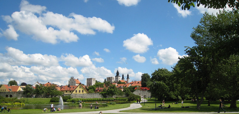 Lovely view of the Visby skyline - a beautiful day!
