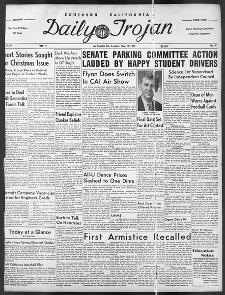 Daily Trojan, Vol. 39, No. 41, November 11, 1947