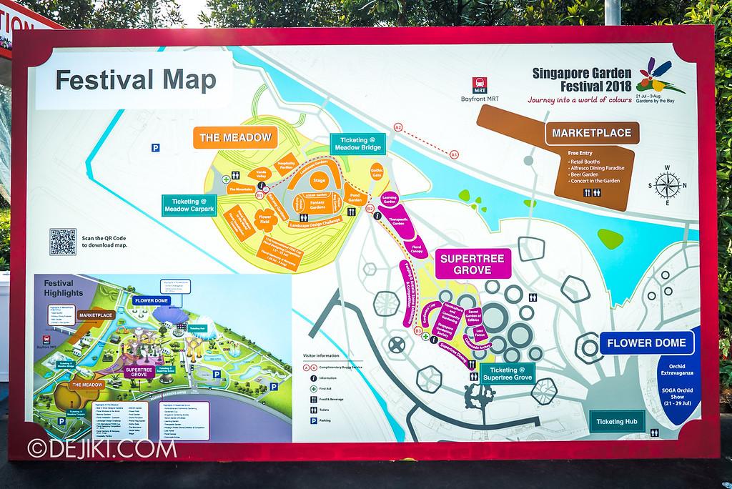 Singapore Garden Festival 2018 - Festival Map