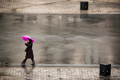 Lady with a Pink Umbrella