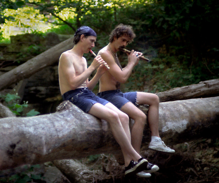 Woodland Musicians; Finley River, SW Missouri, July, 1980.