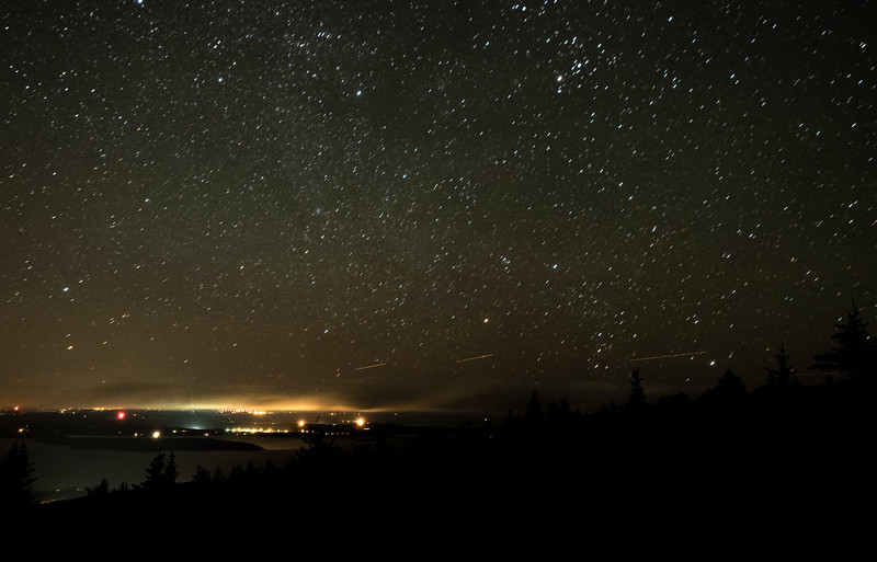 Nighttime at Acadia National Park