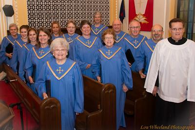 Cedar Lutheran Church Choir, New Gowns, September 2014