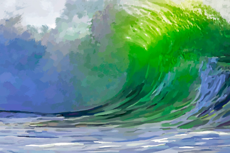 Green Wave - Digital Painting