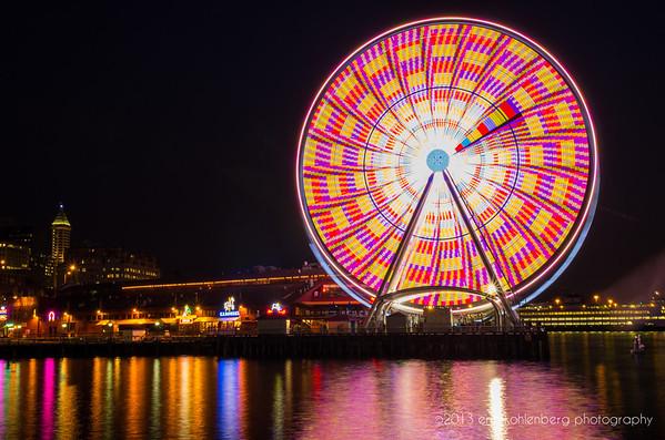 The Seattle Great Wheel, July 30, 2013