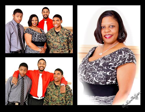 Gardner Family - Laurine and her Men