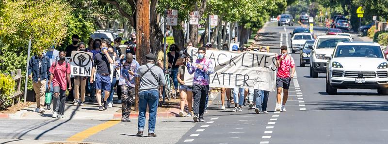 25May2021 Los Altos:  George Floyd Anniversary March