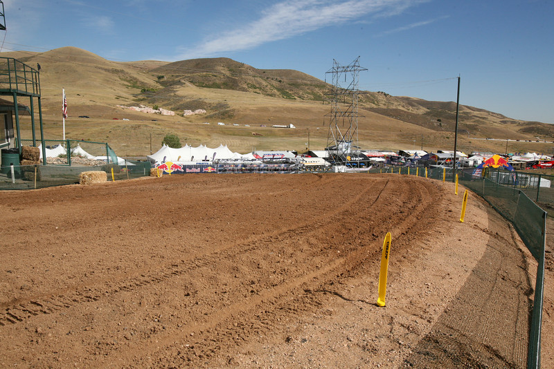 The first turn after the tractor work is done.
