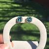 8.41ctw Blue Zircon Asscher Cut Bezel Earrings 12