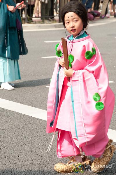 Young Girl at Aoi Matsuri Festival - Kyoto, Japan