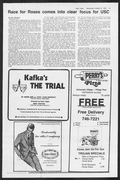 Daily Trojan, Vol. 87, No. 33, October 31, 1979