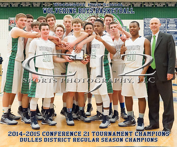 2015 Woodgrove Boys Basketball Conference Champions