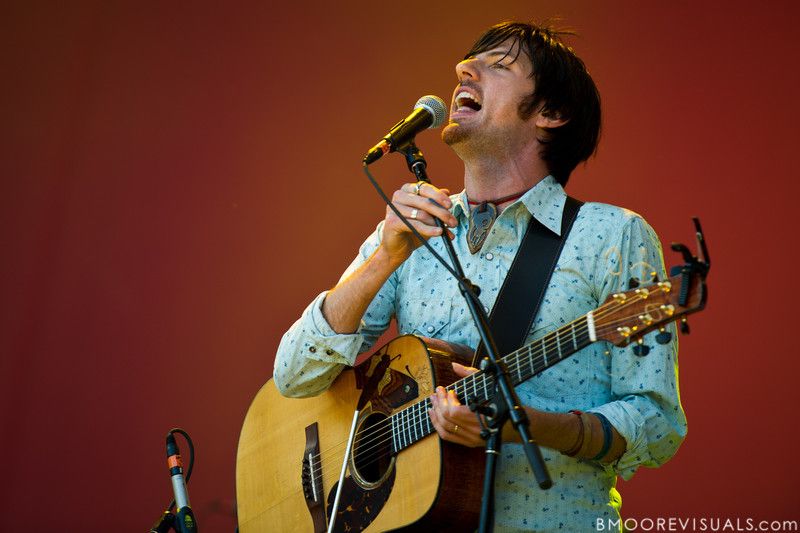 Seth Avett of The Avett Brothers performs at The Citrus Bowl in Orlando, Florida during Orlando Calling on November 12, 2011