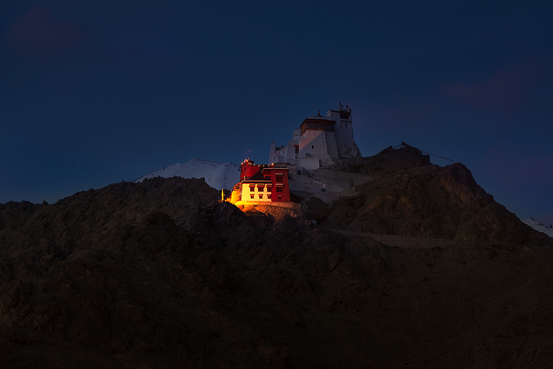 Tsemo Maitreya - Temple, Leh-Ladakh (Night View)