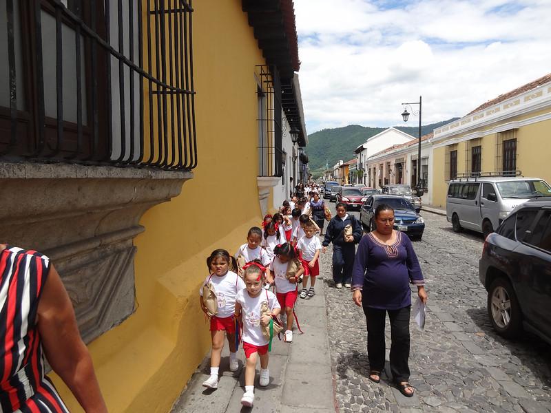 School kids in downtown Antigua