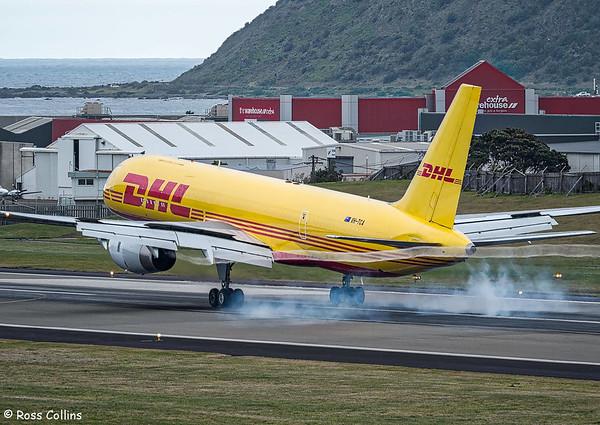 Tasman Cargo Airlines B757 at Wellington 2017