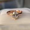 1.05ct Oval Cut Diamond Solitaire, GIA H SI1 28