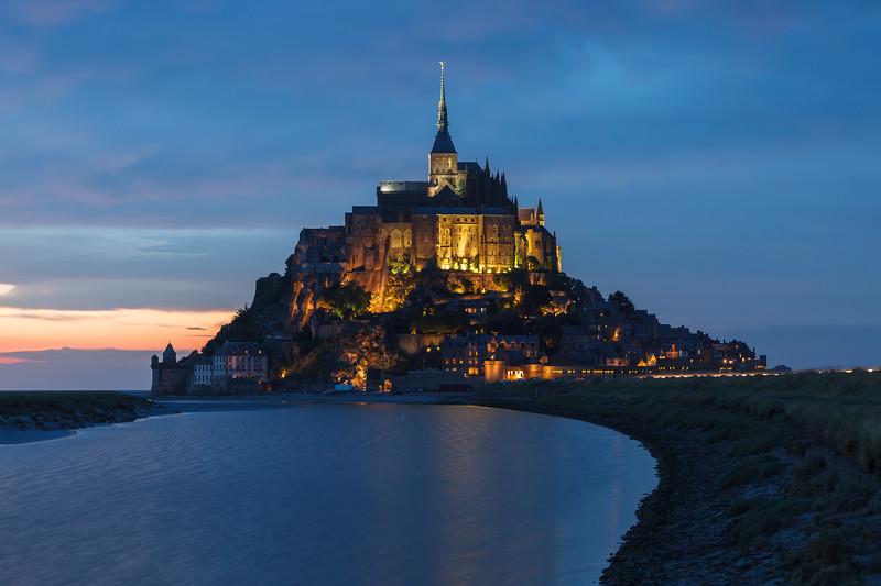 Mont Saint Michel, Normandy, France.