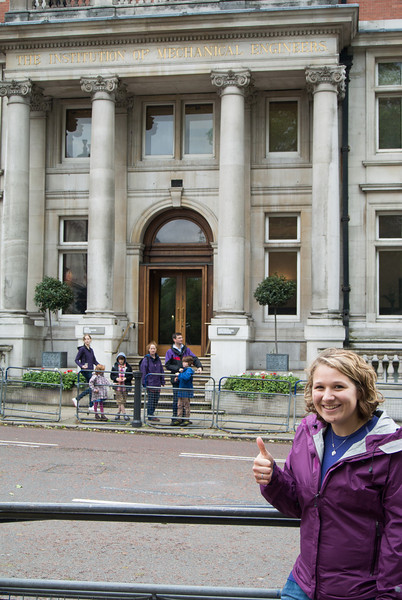Olivia at Institute of Mechanical Engineers
