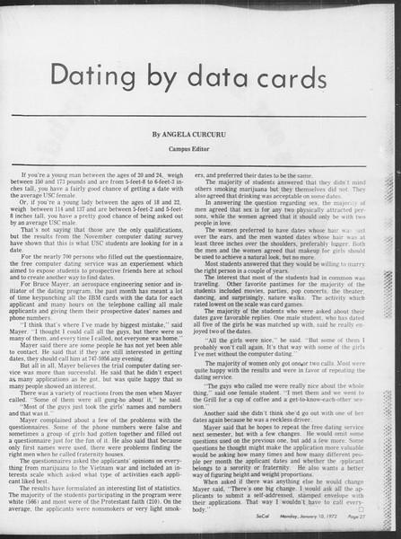 SoCal, Vol. 64, No. 60, January 10, 1972