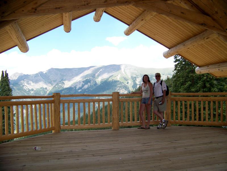 Juel & Caleb visit Colorado in July 2007, Juel & Jay at top of Copper Mountain ski resort