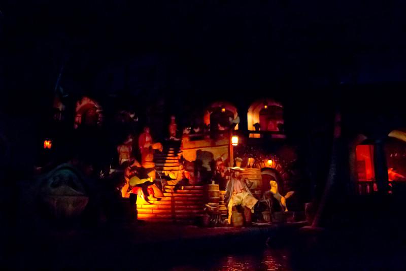 Scenes Inside Pirates Of The Carribean Ride @ Disneyland