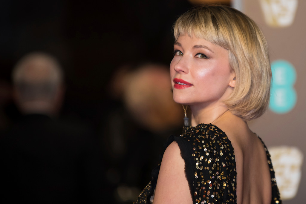. Haley Bennett poses for photographers upon arrival at the BAFTA Awards 2018 in London, Sunday, Feb. 18, 2018. (Photo by Vianney Le Caer/Invision/AP)