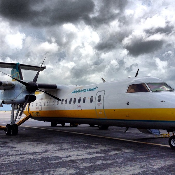 Our flight from Nassau