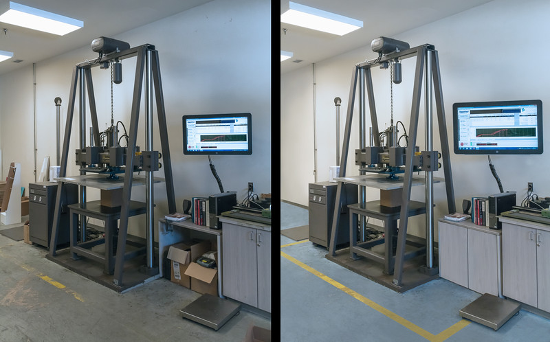 Retouch of an Industrial Testing Lab